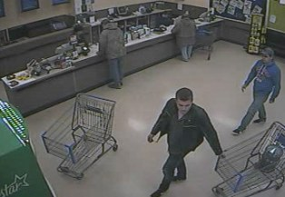Break-in suspects walking in store (courtesy Michigan State Police)