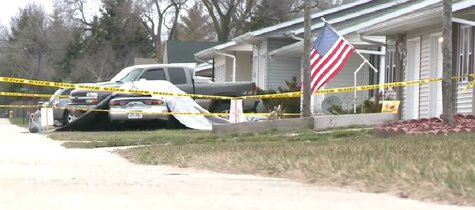 Scene of a crash after a man was fatally stabbed in Two Rivers on April 27, 2014. (Photo from: FOX 11/YouTube).