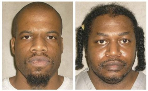 Death row inmates Charles Warner (R) and Clayton Lockett are seen in a combination of pictures from the Oklahoma Department of Corrections d