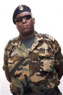 Jose Americo Bubo Na Tchuto, a former naval chief and war hero in Guinea-Bissau, poses for a picture on April 2, 2010 in Bissau, Guinea-Biss