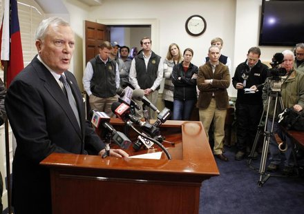 Georgia Governor Nathan Deal speaks to the media at the State Capitol in Atlanta, Georgia, January 30, 2014. REUTERS/Tami Chappell