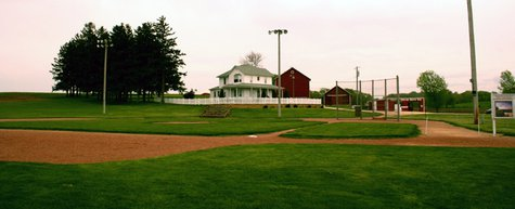Field of Dreams in Dyersville, Iowa in May 2006. (Photo from: JoeyBLS at en.wikipedia [GFDL (http://www.gnu.org/copyleft/fdl.html), CC-BY-SA-3.0 (http://creativecommons.org/licenses/by-sa/3.0/) or CC-BY-2.5 (http://creativecommons.org/licenses/by/2.5)], from Wikimedia Commons)