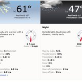 Accuweather forecast for Sunday, May 4.