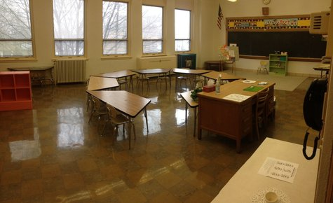 A classroom in the old St. Joseph Parish school is seen on Tuesday, April, 29, 2014. It is currently being used for parish religious education classes. (Photo from: FOX 11).