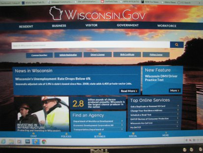 New Wisconsin.gov website homepage