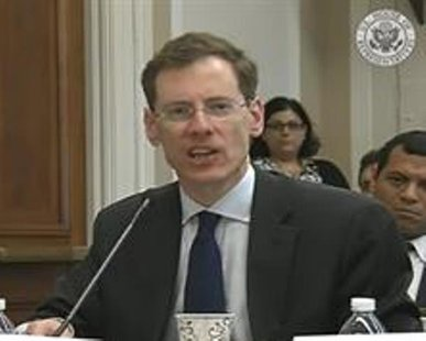 Former Ambassador-at-Large for Trafficking in Persons at the U.S. State Dept. Mark Lagon addresses the House Global Human Rights Subcommittee during an April 29, 2014 hearing. (photo courtesy US House of Representatives)