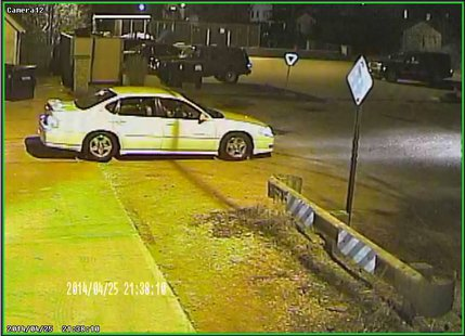 This is the vehicle that possible tavern thieves used on April 25, 2014.