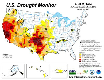 U.S. Drought Monitor April 29, 2014