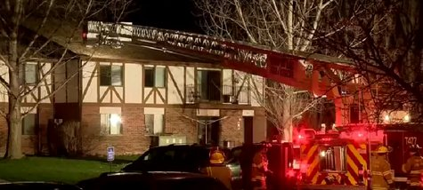 Crews respond to an apartment fire in Fond du Lac on Friday May 2, 2014. (Photo from: FOX 11/YouTube).