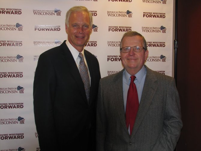 Senator Ron Johnson with Jerry at the Wisconsin Republican Convention