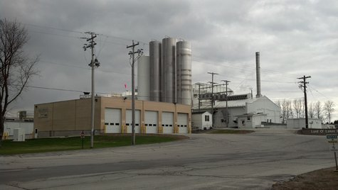 A photo of the Land O'Lakes cheese plant in Denmark on May 1, 2014. (Photo from: FOX 11).