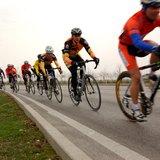 Some bike riders.
