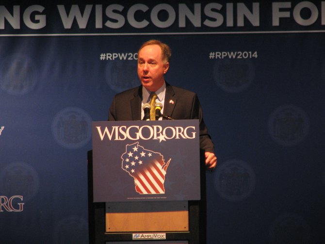 Assembly Speaker Robin Vos at the Wisconsin Republican Convention in Milwaukee