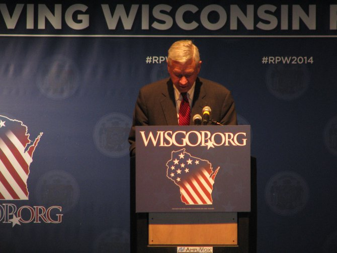 Congressman Tom Petri at the Wisconsin Republican Convention in Milwaukee