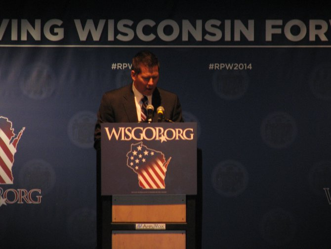 Congressman Sean Duffy at the Wisconsin Republican Convention in Milwaukee