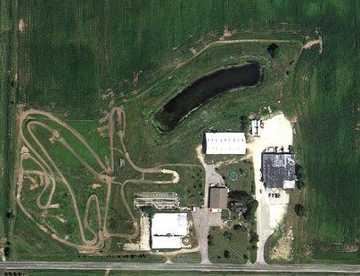 A Google Maps view of the Luige's Frozen Pizza plant with its pond in the Town of Holland.