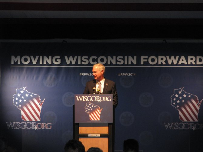 Senator Ron Johnson at the Wisconsin Republican Convention in Milwaukee