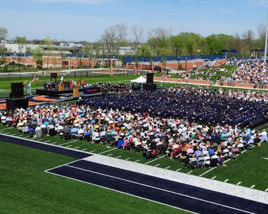 Hope College Commencement Ceremony at Ray & Sue Smith Stadium (photo courtesy Hope College)