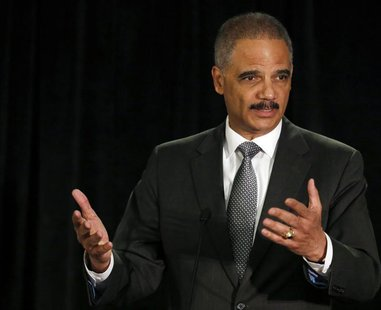 United States Attorney General Eric Holder speaks at the National Association of Attorneys General in Washington May 5, 2014. REUTERS/Gary C