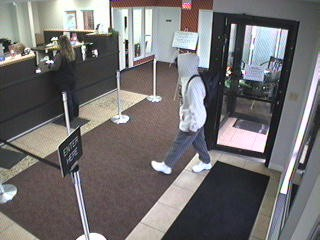 Surveillance cameras captured the suspect on video.