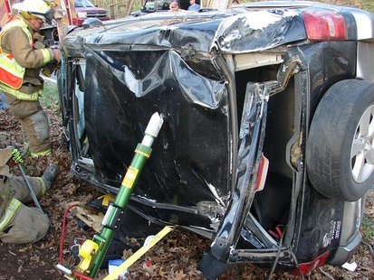 photo of crash provided by Indiana State Police