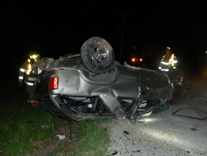 crash photo provided by Indiana State Police