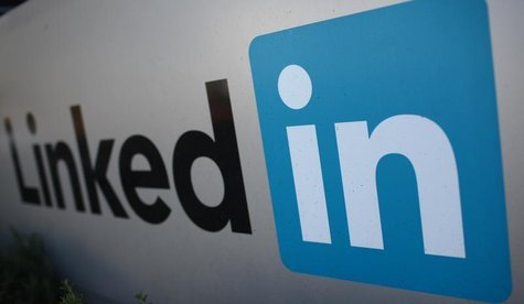 The logo for LinkedIn Corporation, a social networking website for people in professional occupations, is pictured in Mountain View, Califor