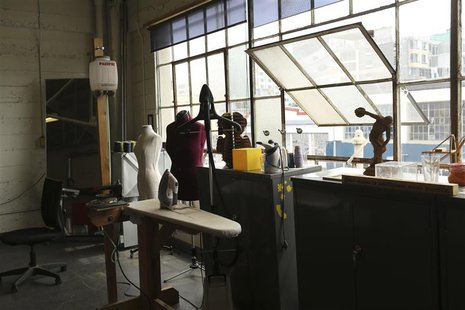A clothing designer area is pictured at TechShop in the South of Market neighborhood in San Francisco, California April 24, 2014. REUTERS/Ro
