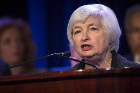U.S. Federal Reserve chair Janet Yellen speaks to the Economic Club of New York in New York April 16, 2014. REUTERS/Brendan McDermid