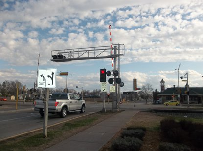 Maple Avenue Railroad Crossing in Marshfield, WI