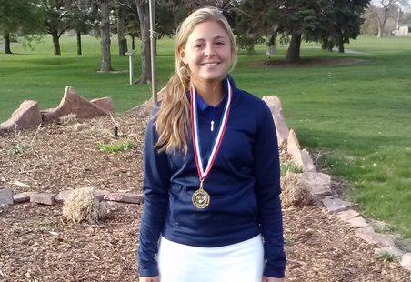 O'Gorman's Myla Brown was the City of Sioux Falls High School Girls Golf Champion. (KELO AM Photo)