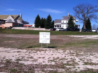 The location where a proposed apartment building may be built in downtown Sheboygan.