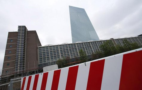 The new headquarters of the European Central Bank (ECB) is seen during a guided media tour in Frankfurt, April 29, 2014. REUTERS/Ralph Orlow