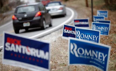 2012 campaign signs file photo