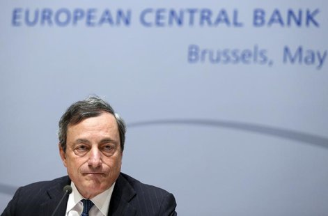 European Central Bank (ECB) President Mario Draghi addresses a news conference following the ECB Governing Council meeting in Brussels May 8