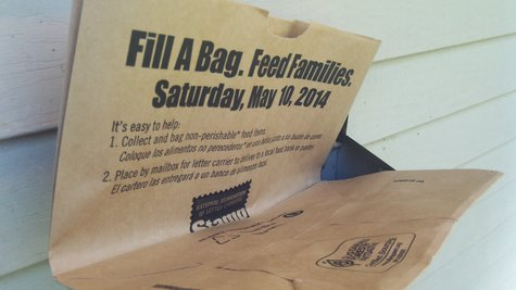 Even if you didn't get a bag, you can leave food out for your postal carrier.