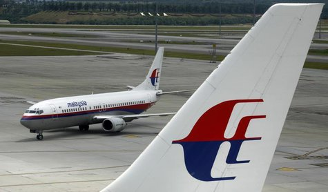 An aircraft of Malaysian Airline System taxis on the tarmac at Kuala Lumpur International Airport in Sepang outside Kuala Lumpur February 26