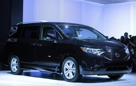 Nissan's Quest is unveiled at the LA Auto Show in Los Angeles, California, November 17, 2010. REUTERS/Lucy Nicholson