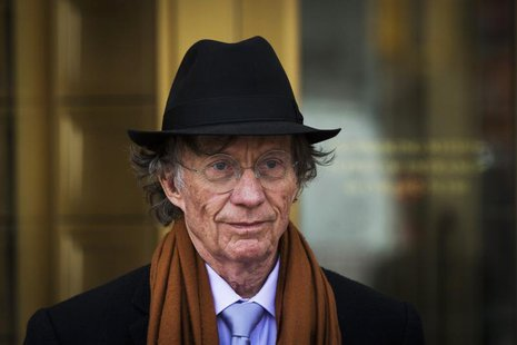 Texas investor Samuel Wyly exits the Manhattan Federal Court April 22, 2014. REUTERS/Lucas Jackson