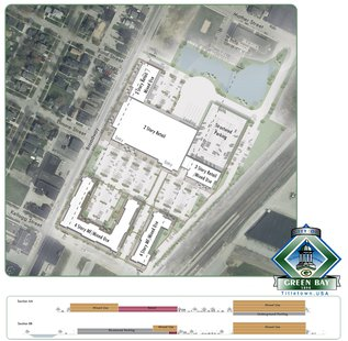 City of Green Bay's diagram showing a compromise for Walmart's proposed store in the Broadway District. (Photo from: greenbaywi.gov)