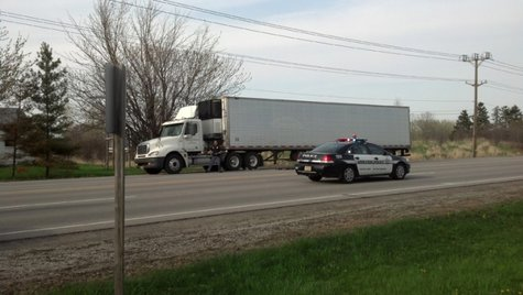 Appleton police say a man has died after being hit by a semitruck on E. Northland Ave. on Monday, May 12, 2014. (Photo from: FOX 11).