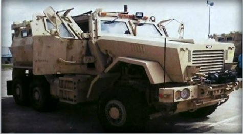Photo of the surplus military vehicle acquired by the Neenah Police Department. (Photo from: FOX 11/YouTube).