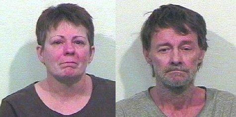 Sharon Hagen and John Crowford.  (Van Buren County mugshots)
