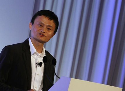 Jack Ma, the chairman of China's largest e-commerce firm Alibaba Group, addresses a conference in Hong Kong March 20, 2013. REUTERS/Bobby Yi