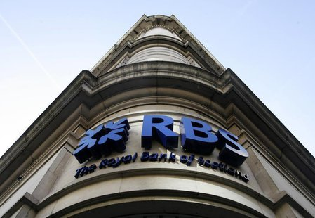 A Royal Bank of Scotland branch is seen, in central London February 21, 2009. REUTERS/Luke MacGregor