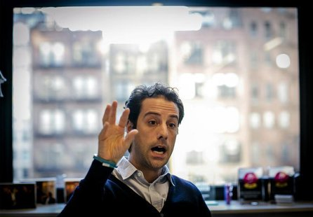 BuzzFeed's President & Chief Operating Officer Jon Steinberg speaks during an interview at the company's headquarters in New York January 9,