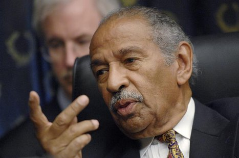 "Committee chairman Rep. John Conyers (D-MI) holds a House Judiciary Committee hearing on the George W. Bush presidency, called ""Executive Po"