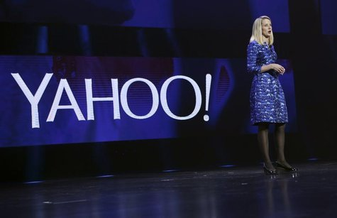 Yahoo CEO Marissa Mayer delivers her keynote address at the annual Consumer Electronics Show (CES) in Las Vegas, Nevada January 7, 2014. REU