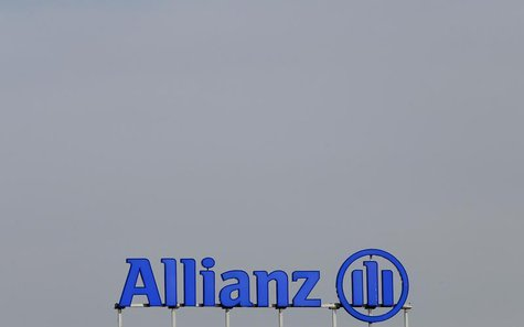 The logo of Europe's biggest insurer Allianz SE is pictured at their headquarters in Unterfoehring, near Munich February 26, 2014. REUTERS/M