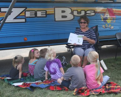 The Zee Bus in action (photo courtesy Zeeland Public Schools)